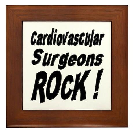 Cardiovascular Surgeons Rock ! Framed Tile