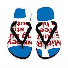 Anti Romney Foot in Mouth Disease Flip Flops