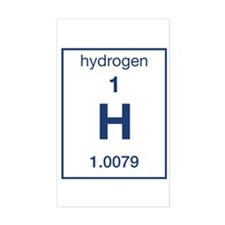 Hydrogen Rectangle Decal
