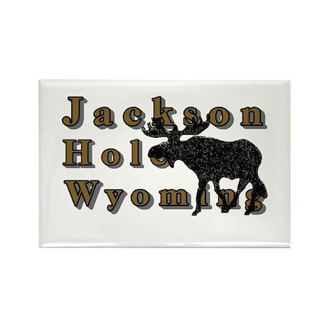 Jackson Hole Wyoming Moose Rectangle Magnet