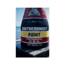 Sign marking southernmost point i Rectangle Magnet