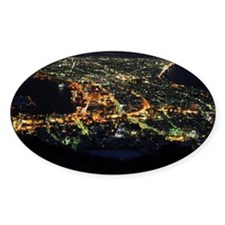 Night view from Mt. Hakodate Decal