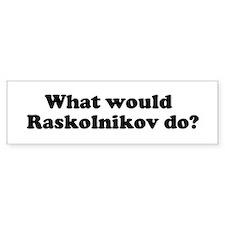 Raskolnikov Bumper Car Sticker