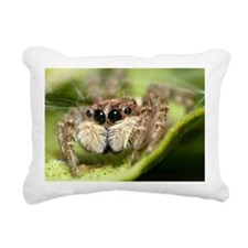 Jumping spider close up Rectangular Canvas Pillow