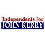 Independents for John Kerry (sticker)