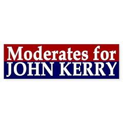 Moderates for John Kerry (bumper sticker)