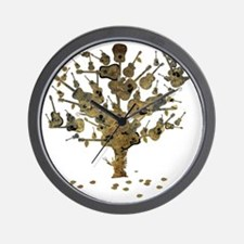 Guitar Tree Wall Clock