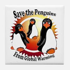 Save the Penguins Tile Coaster