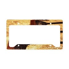 Oar blades from racing crew c License Plate Holder