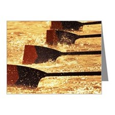 Oar blades from racing crew  Note Cards (Pk of 10)