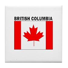Cute British columbia flag Tile Coaster