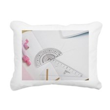 Stationery on the desk Rectangular Canvas Pillow