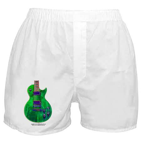 """Foil Green"" Guitar Boxer Shorts"