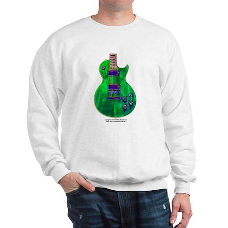 """Foil Green"" Guitar Sweatshirt"