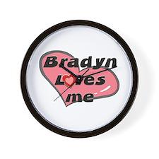 bradyn loves me  Wall Clock