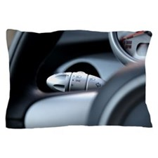 close-up of turn signal switch in car Pillow Case