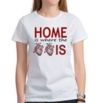 Home Is Where The Two Hearts T-Shirt