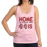 Home Is Where The Two Hearts Racerback Tank Top