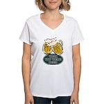 Wish You Were Beer Women's V-Neck T-Shirt