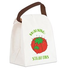 Warning: Stray Pins Canvas Lunch Bag