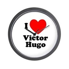 I Love Victor Hugo Wall Clock