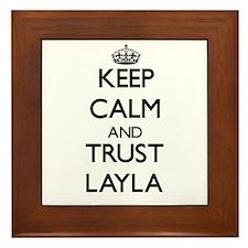 Keep Calm and trust Layla Framed Tile