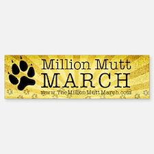the million mutt march logo  3x11 Bumper Bumper Sticker