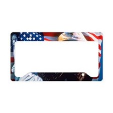 Digital Collage: American Ico License Plate Holder