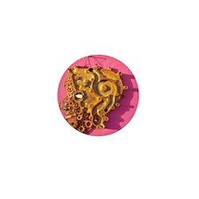 Curacao Grunge Art Mini Button
