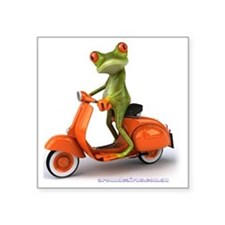 "Around Cairns frog on Vespa Square Sticker 3"" x 3"""