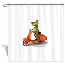 Around Cairns frog on Vespa Shower Curtain