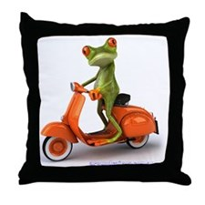 Around Cairns frog on Vespa Throw Pillow