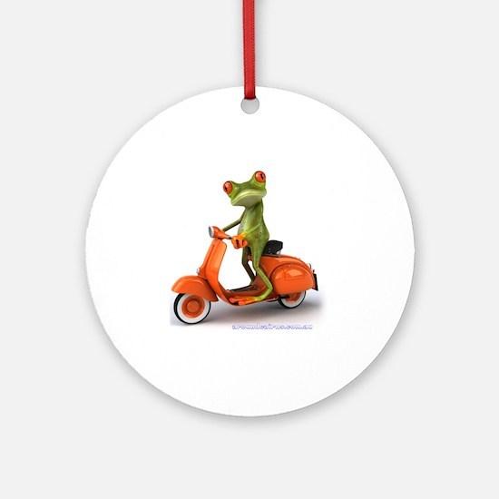 Around Cairns frog on Vespa Round Ornament