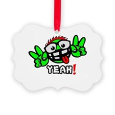 YEAH! GREEN MAN Picture Ornament