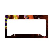 Color glass in Mosque License Plate Holder