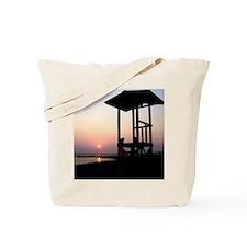 Lifeguard Sunset Photo Tote Bag