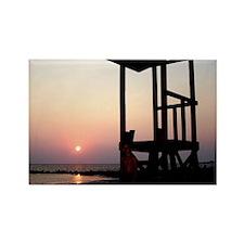 Lifeguard Sunset Photo Rectangle Magnet