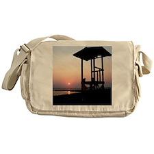 Lifeguard Sunset Photo Messenger Bag