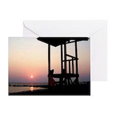 Lifeguard Sunset Photo Greeting Card