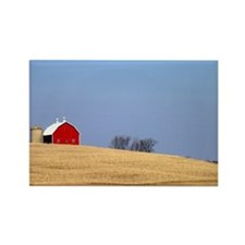 Beautiful rural landscape with a  Rectangle Magnet