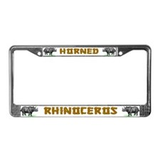 Rhinoceros License Plate Frame