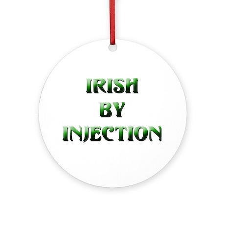 Irish By Injection Medallion (Round)
