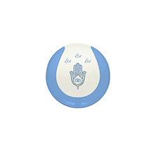 Lucky Hamsa Hebrew mini buttons (10)