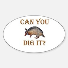 Armadillo Oval Decal