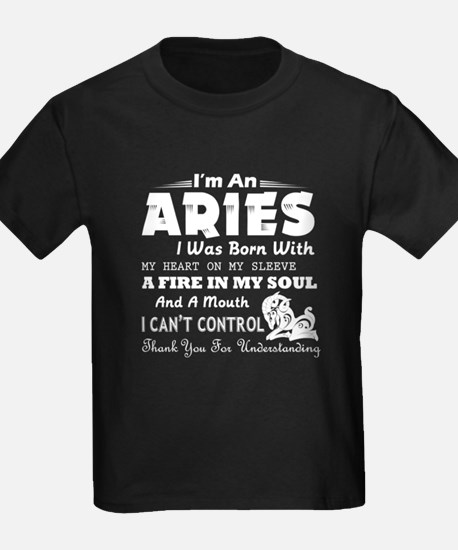 An Aries I Was Born With My Heart On My Sl T-Shirt