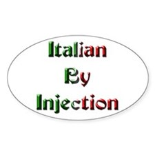 Italian By Injection Oval Decal
