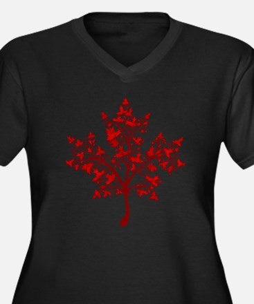 Canadian Maple Leaf Tree Plus Size T-Shirt