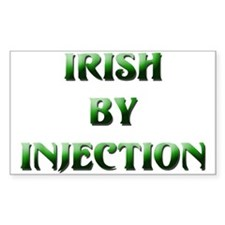 Irish By Injection Rectangle Decal