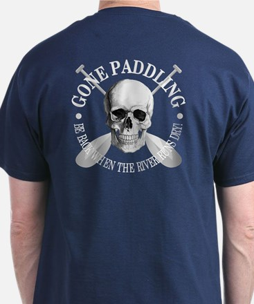 Gone Paddling -Skull T-Shirt