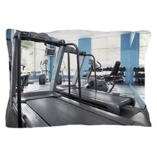 Exercise equipment in gym focus on tre Pillow Case
